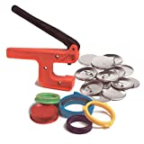 Badge-A-Minit 100M 2 1/4' Button Making Machine Deluxe Starter Kit with Pre-Made Designs