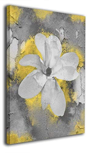Abstract canvas Wall Art Decor for bedroom livingroom yellow flowers Wall art Decor for Home Colorful Modern Wall Art Painting Print (24x32inch,Framed)