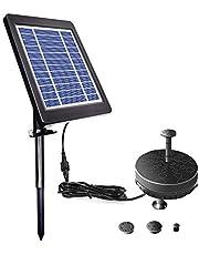 مضخة مياه غاطسة تعمل بالطاقة الشمسية من ديكديل لحمام الطيور 6 فولت 3.5 وات تعمل بالطاقة الشمسية مع بطارية ليد مدمجة لفناء الحديقة بركة بركة السباحة