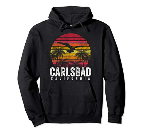Carlsbad California CA Vintage Retro Distressed Style Gift Pullover Hoodie