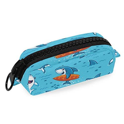 Estuche de lápices con cremallera para lápices, diseño de animales de mar del océano, bolsa de papelería para la escuela, oficina, estudiante universitario