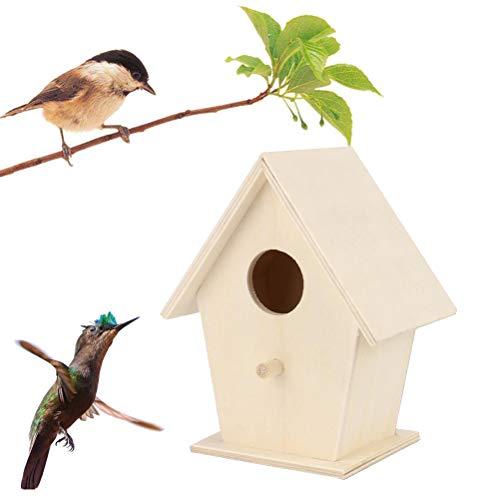 Rsoamy Holz-Vogelhaus, Massivholz Vogel-Futterhaus,Vogelhäuser vogelfutterhaus,des hölzernen Vogelhauses für Gartendekorationen im Freien