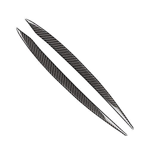 2 stks Carbon Front Ooglid Wenkbrauw Koplamp Cover Vervanging voor Golf 7 7.5
