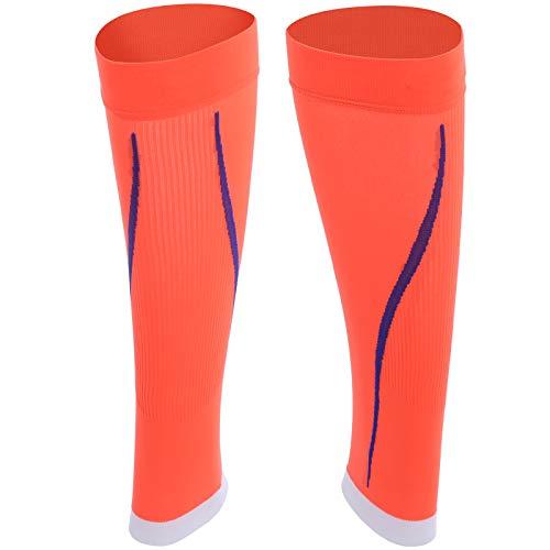 1 par de calcetines naranjas sin pies de alta calidad, tela muy elástica y ajustada, para actividades al aire libre como equipo de protección(S/M)