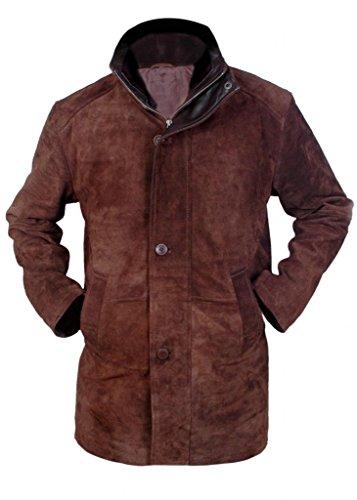 Flesh & Hide F&H Men's Sheriff Walt Longmire Robert Taylor Genuine Leather Coat 2XL Brown