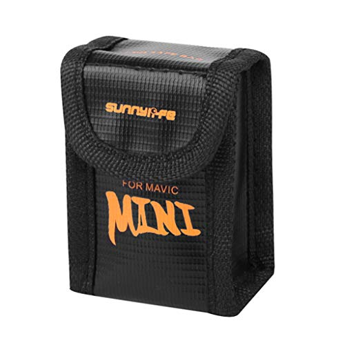 Bonarty Funda de seguridad para batería de Lipo para DJI Mavic Mini, color negro, S