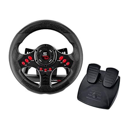 Superdrive - Volant SV400 Racing Wheel avec Pédales et palettes de vitesses pour PS4/Xbox One/PC/PS3