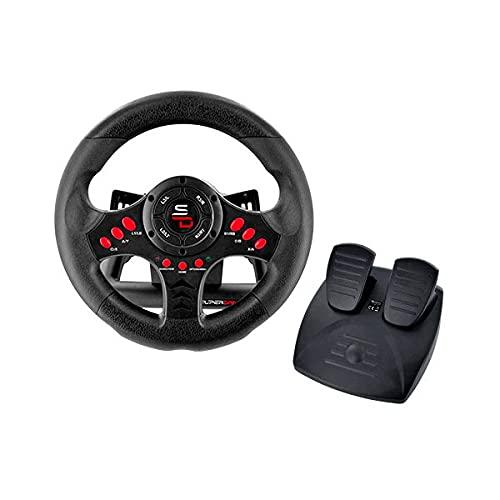 Superdrive - Volante Racing SV400 con pedali e palette del cambio per PS4 - Xbox One - PC e PS3
