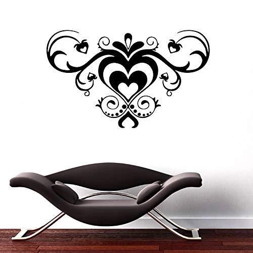 Schmetterlingsrebe Blume PVC abnehmbare Wandaufkleber Liebe Wandkunst Aufkleber Wandbild Wohnzimmer Schlafzimmer Wohnkultur Aufkleber A6 35x57cm