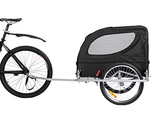 Leonpets Large Size Pet Dog Fahrradanhänger und Kinderwagen mit Federungsbremse 10403 schwarz