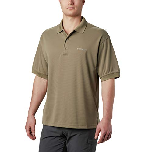 Columbia PFG Perfect Cast Polo pour Homme, Respirant, Protection UV, Sauge, Taille L