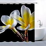 Floral Pflanze Thema Europa & Amerika beliebtes Fashion Individuellkeit Polyester-Duschvorhang, 177,8 x 177,8 cm Wasserdicht Mehltau-Badezimmer Supplies Gardinen inkl. Haken Modern 70 x 70 Inches