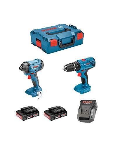 Bosch 0615990L41 - Juego de taladro percutor con batería GSB 18V-21 Professional,...