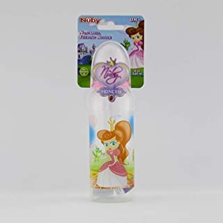 Nuby Printed Feeding Bottle-Princess 240 ml, Pink_10141005
