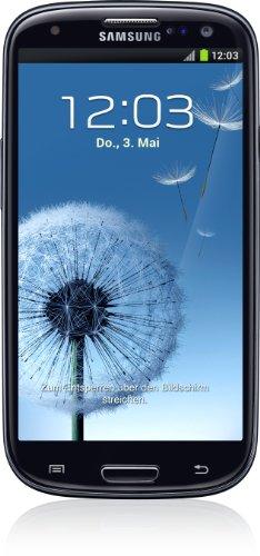 Samsung Galaxy S III i9300 Smartphone 16 GB (12,2 cm (4,8 Zoll) HD Super-AMOLED-Touchscreen, 8 Megapixel Kamera, Micro-SIM, Android 4.0) schwarz
