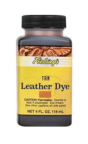 Fiebing's Leather Dye - Alcohol Based Permanent Leather Dye - 4 oz - Tan