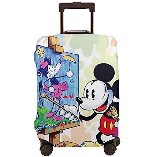 Mickey Minnie Cartoon Mouse Moda Impresión Ligero Plegable Automático Tres Paraguas Portátil Portátil Paraguas, White (Blanco) - 1