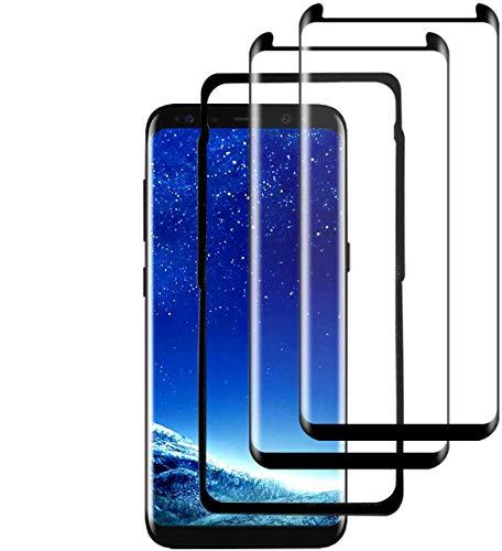 Gmark S8 Plus Panzerglas(2 Pack)(mit Einbaupositionierer), 3D Vollständige Abdeckung/9H Härte/Anti-Kratzer/Wasserdicht Panzerglas Schutzfolie für Samsung Galaxy S8 Plus