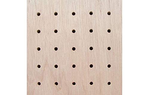 ラワンベニヤ有孔ボード(4ミリ厚x横920ミリx縦1830ミリ)フック取付穴径5ミリ穴ピッチ25ミリ1枚入