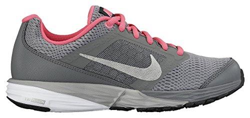 Nike Unisex-Kinder Tri Fusion Run (Gs), grau/neon rosa, 36.5 EU
