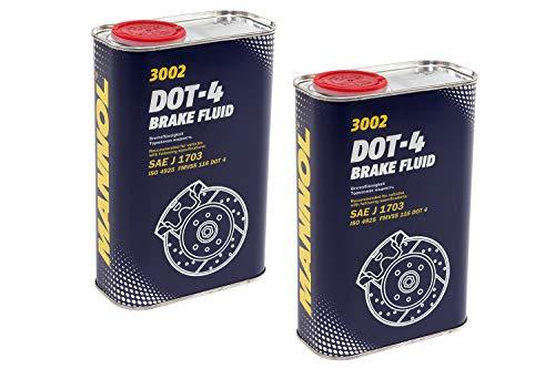 MANNOL Bremsflüssigkeit DOT-4 SAE J 1703 2 Stück á 1 Liter