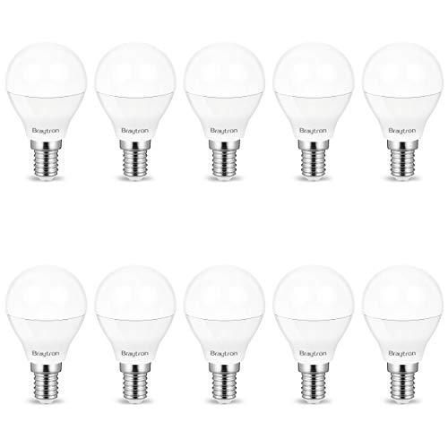 10er Sparpack | LED Leuchtmittel E14 Kugel P45 5 Watt matt | 400 Lumen kaltweiß (6400 K)