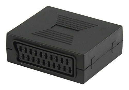 KnnX 28059 | SCART-Buchse an Buchse | Adapter für Verbindungsstück-Adapter für Euroconnector-Extender | Verbindet Zwei Kabel miteinander