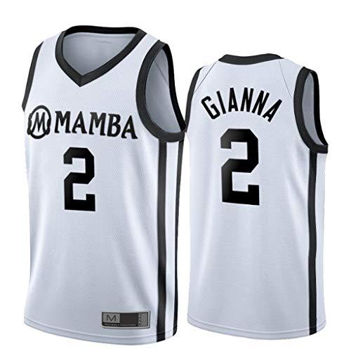 YHIU Herren-Basketballtrikots, 2 Gianna Maria-Onore Bryant, Swingman Edition Mesh-Trikot, ärmelloses Unisex-T-Shirt-XXL