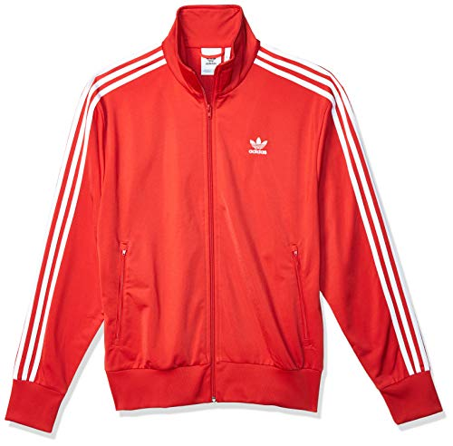 adidas Mens Firebird Jacket, Lush Red, L