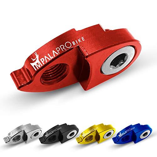 IMPALAPRO Bike Estensore del Gancio del Cambio o deragliatore Posteriore per Mountain Bike (MTB) e Strada Ultraleggero e Resistente, Grande Durata e Alta compatibilità con Shimano e SRAM (Rosso)