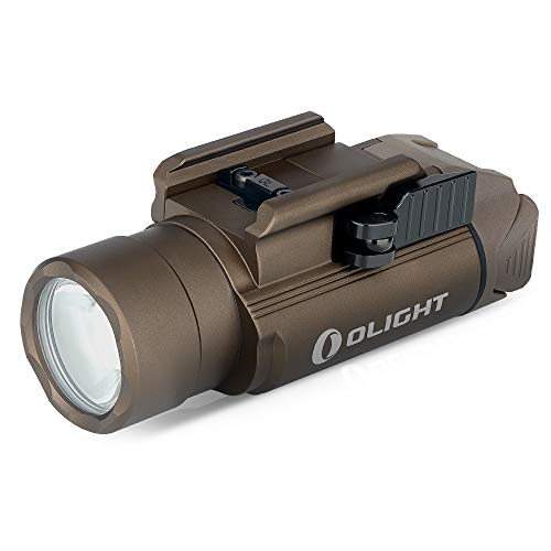 OLIGHT PL-Pro Valkyrie 1500 Lumens LED Rechargeable Weaponlight with 1913 Rail Adapter, MCC Charging Cable, Powered by 900mAh 3.6V Lithium Polymer Battery(Desert Tan)