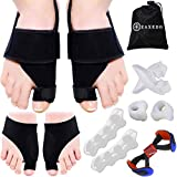 Bunion Corrector & Relief Kit, Orthopedic Bunion Splint, Bunion Sleeves for Hallux Valgus, Toe Separators Spacers Straighteners, Hammer Toe, Big Toe Joint Pain Relief Aid for Men & Women