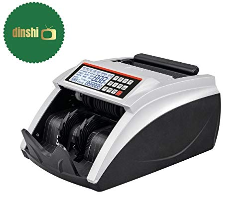 Dinshi Note Counting/Currency Counting Machine with UV/MG Counterfeit Notes Detection Function and External Display