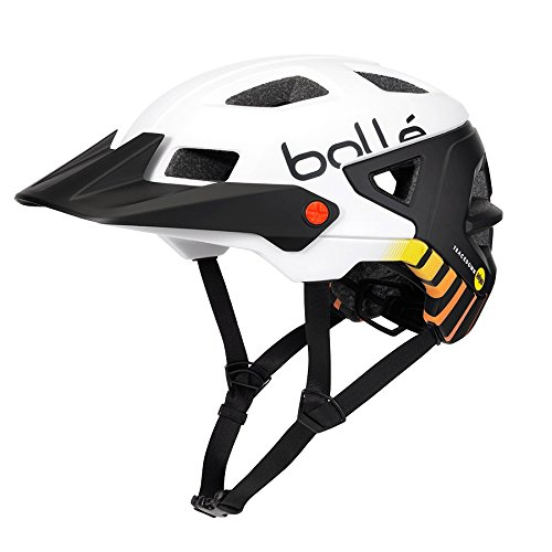 bollé Trackdown MIPS Cascos Ciclismo, Unisex Adulto, White Fire, 51-54 Cm