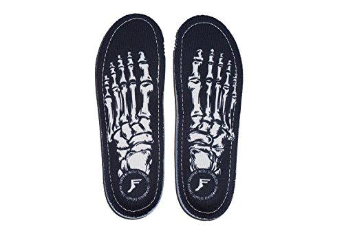 Fußabdruck Innensohle Technologie kingfoam Orthopädische Einlegesohlen Skelett schwarz 11/11,5