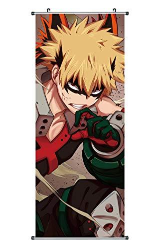 CoolChange Großes My Hero Academia Rollbild | Kakemono aus Stoff | Poster 100x40cm | Motiv: Katsuki Bakugo