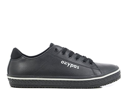 """Oxypas Fashion, Berufsschuh """"Clark"""", antistatischer (ESD) Leder Sneaker für Herren (44, schwarz)"""