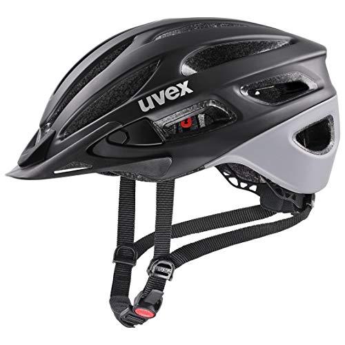 uvex Unisex– Erwachsene, true cc Fahrradhelm, black - grey mat, 55-58 cm