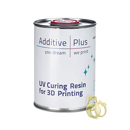 Additive Plus Castable Resin Jewelry Liquid Casting/Wax Resin for LCD 3D Printer | UV Curing Photopolymer Resin Wax | High Detail and Printing Accuracy Translucent (1000 ml)