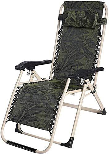 Silla plegable de Descanso de la Playa al Aire Libre del césped Camping Plegable Silla de Sun con un Peso 200Kg LITING