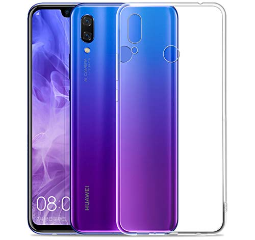 iCoverCase Compatible with Huawei Nova 3 Case, Ultra-Thin Silicon Back Cover [Clear Transparent] Lightweight Protective Soft TPU Case for Huawei Nova 3