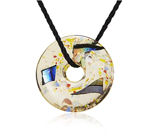 onedayday Glas Inlay Blume Anhänger Halskette Mond Fußabdruck Schmetterling Weihnachtsbaum Glas Lange Halskette Glasflasche Halskette Schmuck @ C