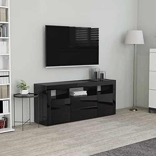 vidaXL Mobile Porta TV Madia unità Multimediale Mobiletto HiFi Arredo Credenza Consolle Armadietto Basso Nero Lucido 120x30x50 cm in Truciolato