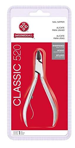 Alicate Para Unhas Das Mãos, Mundial, Aço Inox, Classic 520, Mundial