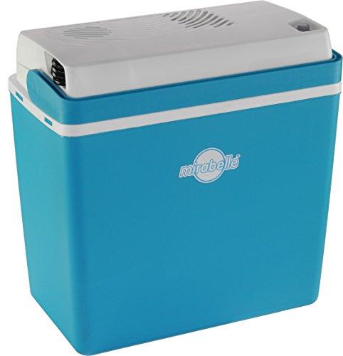 EZetil Mirabelle E24 Thermoelektrische Kühlbox ideal für Outdoor Aktivitäten im Garten, Grillen Picknick 12V/230V, Blau/Weiß