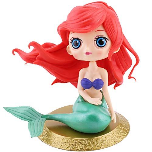 WENTS Meerjungfrau Kuchendeckel Mermaid Doll Cake Topper Tortenstecker Tortentopper Kuchendeko für Geburtstag Torte Regebogen Kuchen Aufsatz Sticks (Meerjungfrau)