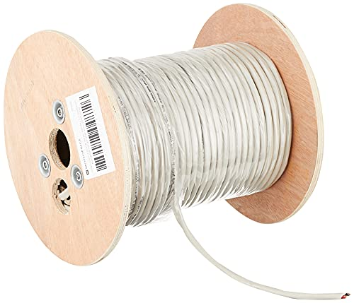 Monoprice Origin Series 14 Gauge AWG 2 Conductor Burial Rated Speaker Wire/Cable - 250ft Gray Outdoor Compatible Water Resistant Jacket with Color Coded 100% Pure Bare Oxygen-Free Copper Conductors