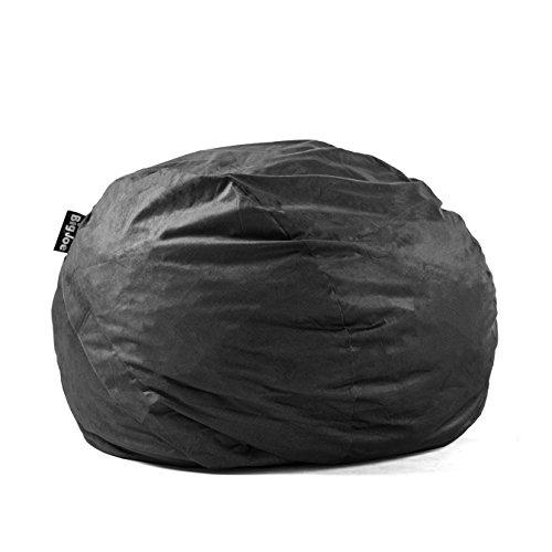 Big Joe Fuf Foam Filled Bean Bag, Extra Extra Large, Black Onyx Comfort Suede