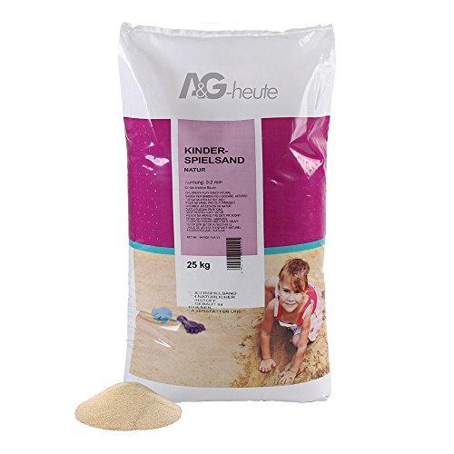 A&G-heute 25kg Spielsand Quarzsand für Kinder Sandkasten Dekosand geprüft gesiebt beige Neue top Qualität