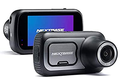 "Nextbase 422GW Dash Cam 2.5"" HD 1440p Touch Screen Car Dashboard Camera, Amazon Alexa, WiFi, GPS, Emergency SOS, Wireless, Black + PNY Elite-X 32GB U3 microSDHC Card (Bundle)"